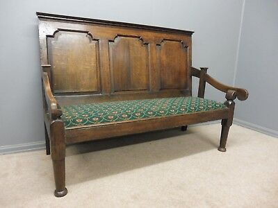 18Th Century Oak Tavern Bench Circa 1760-1780