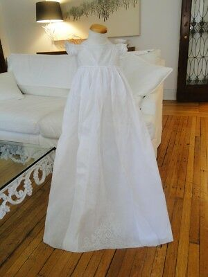 Circa 19Thc. Superb Ayrshire Lace Christening Gown