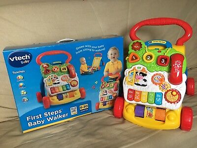 Vtech First Steps Baby Walker Interactive Activity Panel Baby Walker Toy
