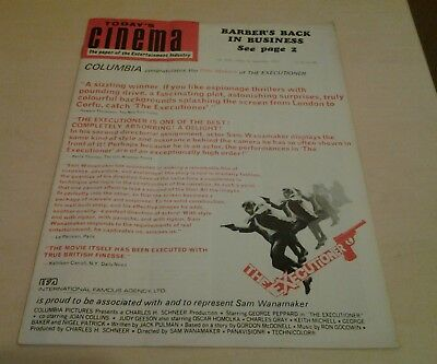 Today's Cinema. The Paper of the Entertainment Industry. Sept 25th 1970.