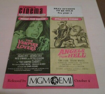 Today's Cinema. The Paper of the Entertainment Industry. Friday 18th Sept. 1970.