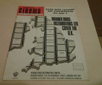 Today's Cinema. The Paper of the Entertainment Industry. Friday 4th Sept. 1970.