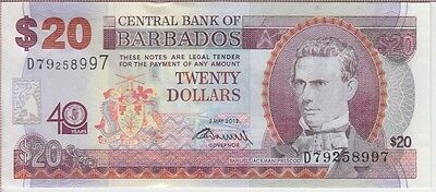 Barbados Banknote P72  20 Dollars Commemorative Extremely Fine