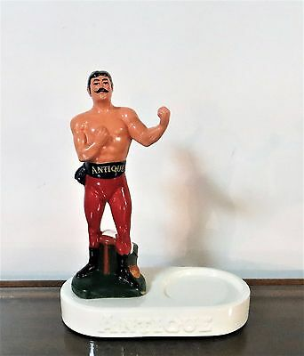 Antique Bourbon Prize Boxer Figurine and Bottle Display,Frankfort Distillery
