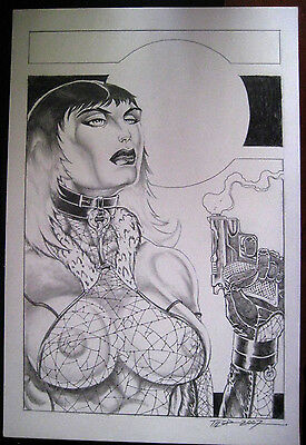 SALE Tim Tyler Vigil Original Art for Faust Print #8 Claire Raw Comics Faust