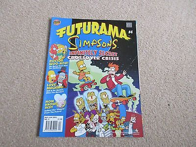 Futurama Comic No 4- May/June 2003- Simpsons crossover Crisis- Good Condition
