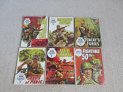 War Picture Library comics x 6 - No's 223, 273, 290, 328, 329, 340-