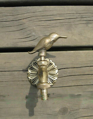 VTG Antique Bird Style Garden Wall Mounted Water Tap Brass&Copper Mix Faucet-1#