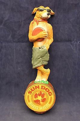 "Sun Dog Amber Wheat Figural Beer Tap Knob Handle Man Cave Bar 10.25"" J4"