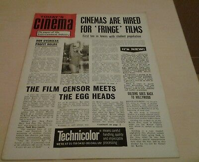 Today's Cinema. The Paper of the Entertainment Industry. Fri. 7th Nov.1969.
