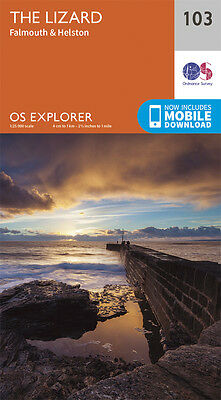 The Lizard Explorer Map 103 - New - Ordnance Survey - Os - Falmouth / Helston