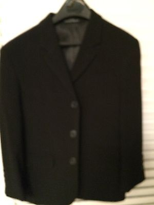 Calvin Klein Boys Black 3 Button Blazer / Jacket Size 8  Excellent Condition