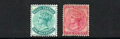 STAMPS NATAL  SC 61 & 64   (MLH-MINT HINGED)  lot 241a