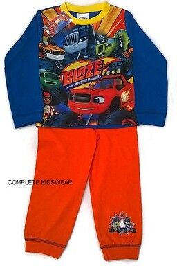 Boys Blaze and the Monster Machines Toddler Pyjamas Pj's 18-24 2-3 3-4 4-5 Years