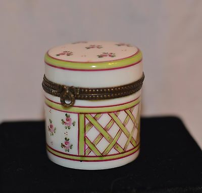 Vintage Limoges Peint Main PV Hand Painted Floral Trinket Box
