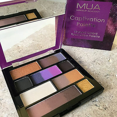 MUA MAKEUP EYESHADOW CAPTIVATION PALETTE Merged OMBRE Colour Metallic GOLD Nude