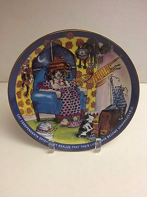 Cat Codependents plate-The Danbury Mint Plate#A1538