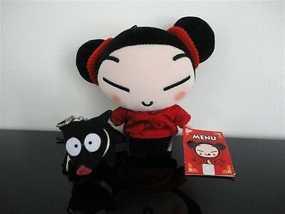 Pucca Chinese Doll New with Tag 7 inch & Black Pig Keychain