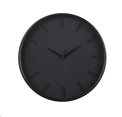 Modern Analogue Black Wall Clock Home Decor Room Office