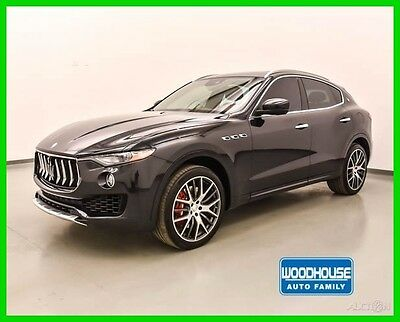 2017 Maserati Other S 2017 Levante S AWD Black Red Leather Harmon Xenon Finance Shipping Like New