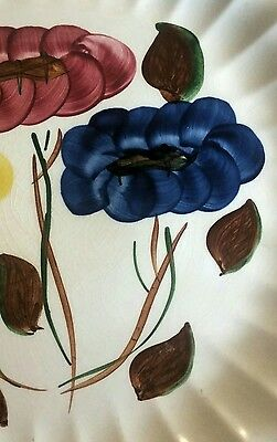 12 Inch Hand Painted Plate Flowers