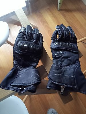 Women's Motorcycle gloves shift brand black leather