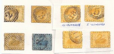 WESTERN AUSSI  1861/90 fine   USED various numbers ANTIQUES