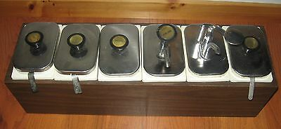 Vtg Set 6 Ice Cream Syrup Fountain Dispensers Containers Parlor Tabletop Kenco