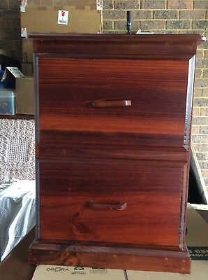 Wooden 2 Draw filing cabinet