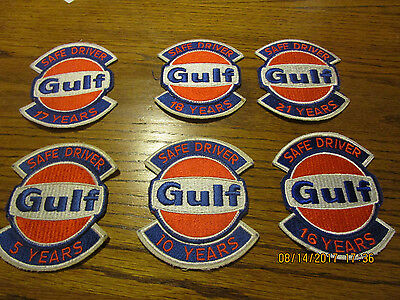 Gulf Oil Safe Driver Patch Lot 6