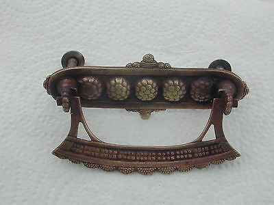 "Antique Brass Door/draw Handle Pull Ornate Rope Vintage Old 4"" Length"