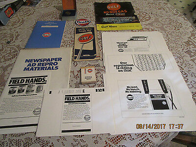 GULF OIL advertising lot vintage of 7