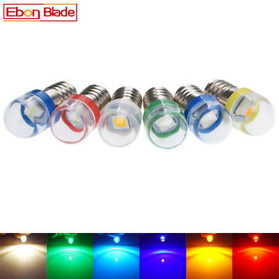 E10 Lamp LED Bulb 6V 6 Volt DC 7 Colors MES 1447 Screw for Torch bike bicycle