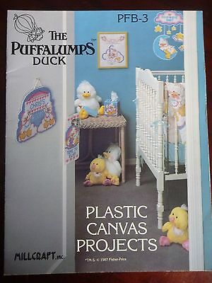 Cross Stitch Pattern Leaflet - The Puffalumps Duck - Plastic Canvas Projects