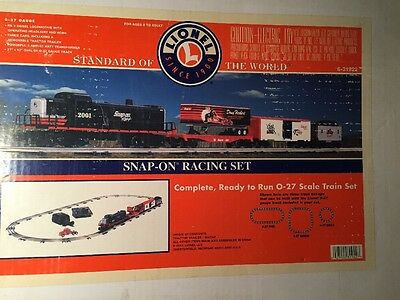 Lionel O Scale Premium Snap-On Racing Train Set 6-31922 RS-3 Diesel