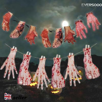 Halloween Scary Decoration Hanging Hands Limbs Arms Bloody Garland Prop Decor