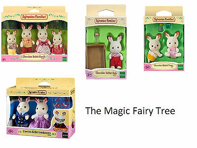 Sylvanian Families - Chocolate Rabbit Baby, Twins, Family, Grandparents