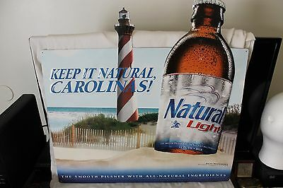 Rare 2014 Anheuser Busch Natural Light Beer Carolinas Metal Advertising Sign !
