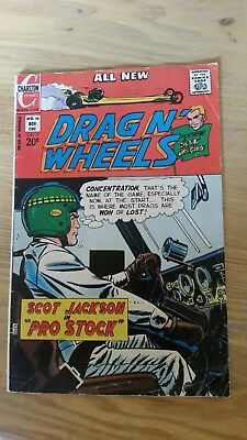 DRAG N' WHEELS 56 8.0 VF 1972 CHARLTON vintage comic book