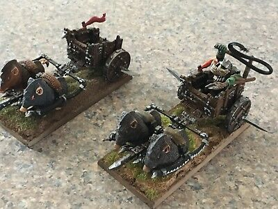 2 ORC BOAR CHARIOTS - Professionally Painted