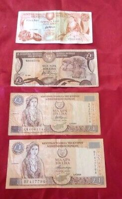 Cyprus banknotes.  (4)