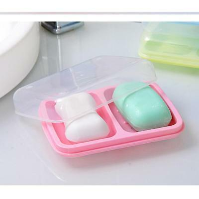 New 1 Piece Premium Plastic Waterproof Soap Box Leakproof Soap Holder Pink
