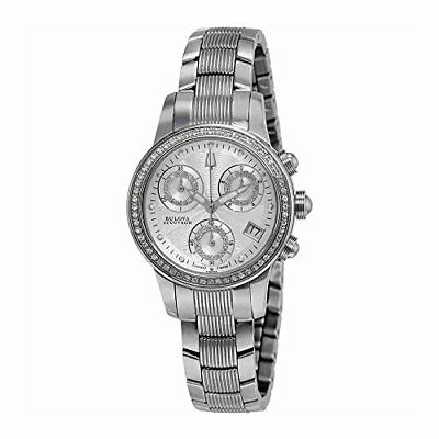Bullied Publishing Bulova Womens Masella Analog Display Swiss Quartz Silver