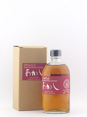 White Oak Akashi 5 Year Old Bourbon Cask Japanese Single Malt Whisky 500ml