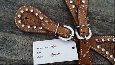Western Spur Straps 759 silver