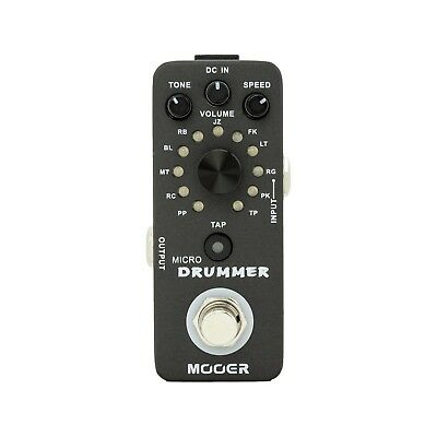NEW Mooer Micro Drummer Mini Drum Machine Effects Pedal