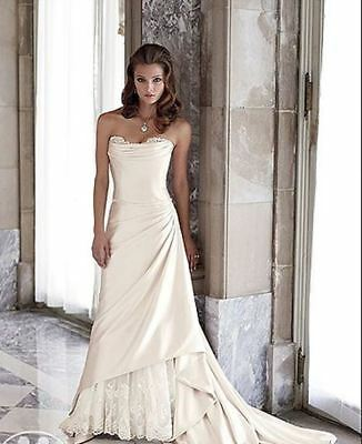 Strapless satin wedding gown with corset back (was $1869) Sophia Tolli Y1819