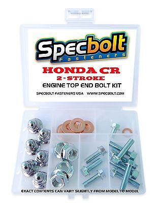 Honda Cr Spec 2 Stroke Top End Cap Head Nut Bolt Kit Cr80 Cr85 Cr125 Cr250 Cr500