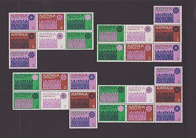 1971 Christmas Block of 7 x 4 Blocks, Mint Never Hinged.