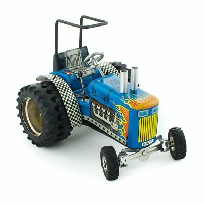 NEW CHILDRENS Wind Up Tin Toy Tractor - Dragtor
